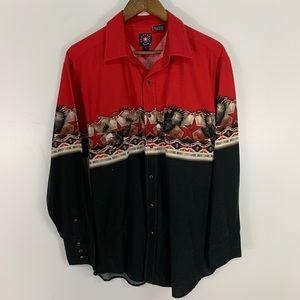 Vintage Panhandle Slim Aztec Pearl Snap Shirt